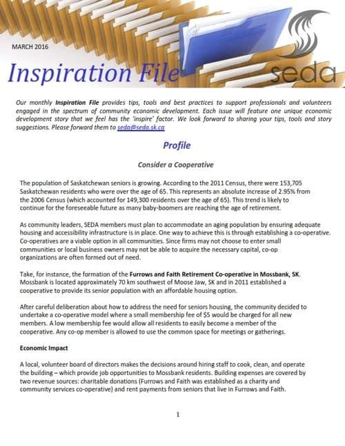Furrows and Faith Inspires SEDA
