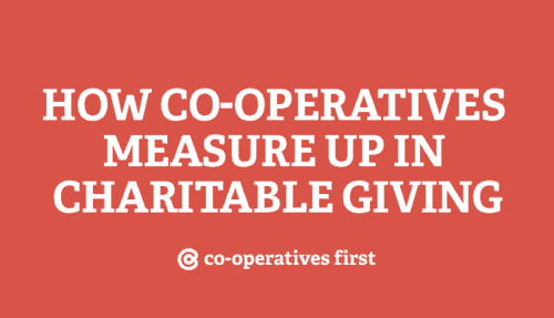 How co-operatives measure up in charitable giving